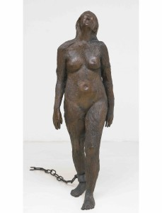 Mary Magdalene, cast silicon bronze and forged steel (152.4 cm x 52.1 cm x 54.6 cm) 1994